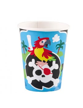 8 gobelets pirate en carton