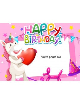 Photo comestible Licorne Birthday