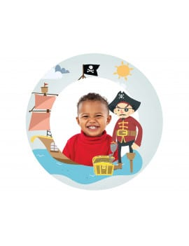 Photo comestible pirate ronde 20 cm