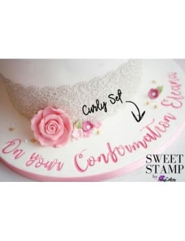 Kit embosseurs lettres Curly Sweet stamp
