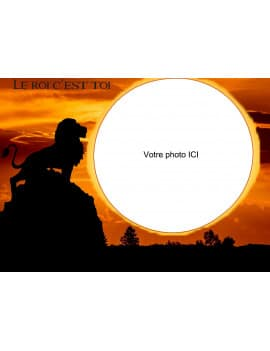 Photo comestible A4 - Lion