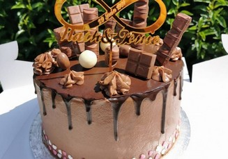 layer cake nutella moule rond pme