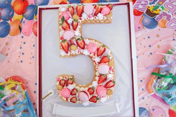 Recette Number Cake citron fraise inratable